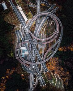 Roadway interchange outside of Sagamihara, Japan by Rob Antil (drone photo) | issyparis