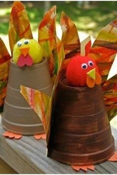 Fall craft projects for kids to make - fun and easy turkey made with a solo cup.