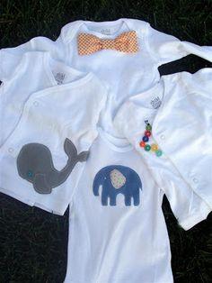 diddle dumpling: Baby Shower Gifts: Embellished Onesies