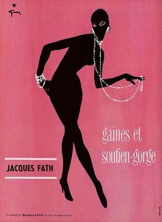 50s ad : Jacques Faith underwear  Illustration by René Gruau