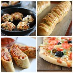 Party Finger Food Appetizers | Lots of yummy apps. @Lauren Davison Brennan