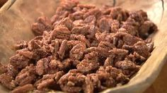 Old-Fashioned Roasted Pecans - Recipes - Pecan Recipes Spicy Pecans Recipe, Spiced Pecans, Roasted Pecans, Praline Pecans, Sugar Coated Pecans, Glazed Pecans, Candied Walnuts, Almonds, Pecan Recipes