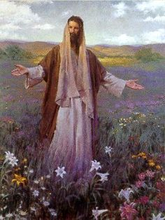 Christ and the lilies of the valley