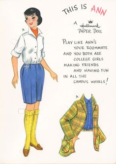 Paper Dolls were my favorite thing when I was a little girl. I especially loved making my own.