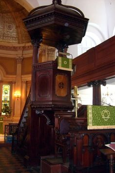 The pulpit in St. Michael's Church, Charleston, South Carolina.