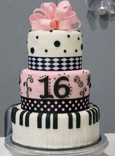 lol Dress cake for a sweet 16  16 Beautiful Sweet 16 Cakes