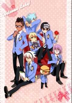 Host Club Soul Eater crossover...why is Kid Tamaki?! That should be Soul :c