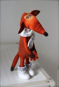 Лис Валентин - рыжий,лиса,лисица,лис,шерсть,валяная игрушка,войлочная игрушка