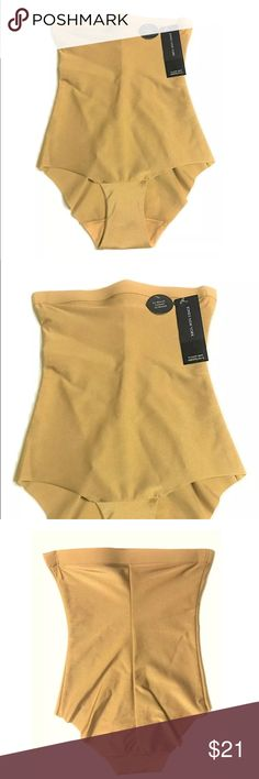 NEW Jones New York High Waist Tummy Slimmer M/6 NEW Jones New York High Waist Tummy Slimmer Shaper Brief SIZE M/6 Price on tag is $36  Size M/6 Color on tag is called Dark Nude Smooth stretch fabric 82% Nylon, 18% Spandex Crotch Lining 100% Cotton  I try my best to capture the correct color/shade but the actual shade may vary.    Thank you so much! Jones New York Intimates & Sleepwear Shapewear