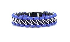 The Bolt Bracelet is the newest design based on the classic Solomon paracord design. I take a traditional Solomon bracelet, then stitch it micro cord in a lightning bolt pattern. To finish it up, I add your choice of a side-release buckle or an adjustable stainless steel shackle. These can be made in countless color combinations! #ribbonandsteel #bracelet #paracord #lightning