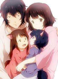 おおかみこどもの雨と雪 狼的孩子雨和雪 The Wolf Children Ame and Yuki Totoro, Film Manga, Manga Anime, I Love Anime, Awesome Anime, Film Animation Japonais, Animation Film, Wolf Children Ame, Lobo Anime