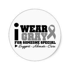 Brain Tumor Awareness Ribbon & Sticker Designs