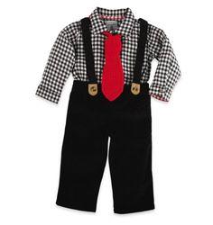 Baby boy tie & suspenders... maybe for Auntie @Erica Ugarph wedding???