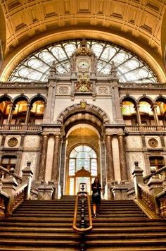 Antwerpen - Anvers: The railway Station, from World Great Cities. Share your photos on www.worldgreatcities.com