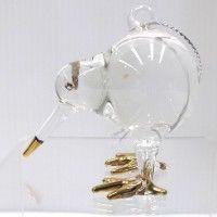 Le Forge Glass Kiwi Hanger Gold Trim $12.90