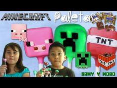 Tutorial | Paletas de Minecraft con Snickers mini | Candy Pops - YouTube