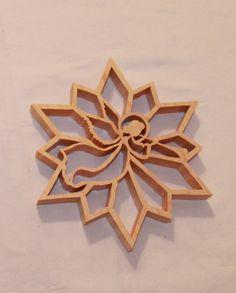 Scroll Saw Pattern: Angel Snowflake                                                                                                                                                                                 More