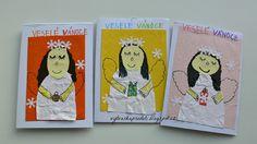 Tvoříme s dětmi ☺: Přáníčka s andělíčky a vločkami