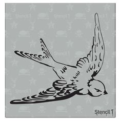 This easy-to-use Swallow Small Stencil from is perfect for walls, home decor, clothing and more. Each stencil is cut high quality in order to provide a long lasting design. The possibilities of what you can create with a stencil are endless. Tattoo Sketches, Tattoo Drawings, Drawing Sketches, I Tattoo, Tattoo Outline, Body Art Tattoos, Small Tattoos, Sleeve Tattoos, Cool Tattoos