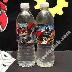 transformers etiqueta para botella