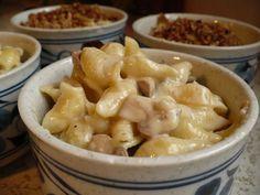 Mac & Brie Cheese with Mushrooms {recipe}