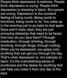 This is literally spot on because I no longer feel anything anymore but the pain and memories