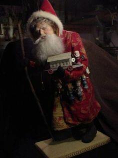 "Norma DeCamp ""Walking"" Santa, 22"""
