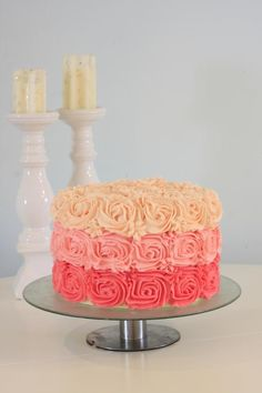 Rose cake made with buttercream on the Craftsy Blog!