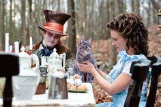 Alice in wonderland love Disney Theme Engagement Pictures - Disney Theme Engagement Photos | Wedding Planning, Ideas & Etiquette | Bridal Guide Magazine