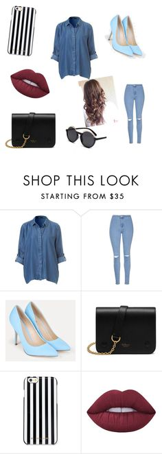 """""""Jeans"""" by jadyeleng on Polyvore featuring Glamorous, JustFab, Mulberry, MICHAEL Michael Kors and Lime Crime"""
