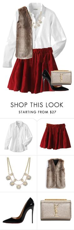 """""""25 days of Christmas: Day 3"""" by hayley-tennis ❤ liked on Polyvore featuring Chicwish, Christian Louboutin, Yves Saint Laurent and hayleys25daysofchristmas"""