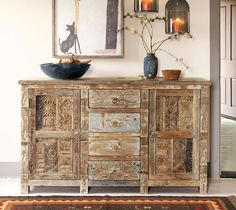 Love The Distressed Rustic Look Of This Piece Rustic Buffet Tablessanta Fe Decorhome Decor Catalogssanta