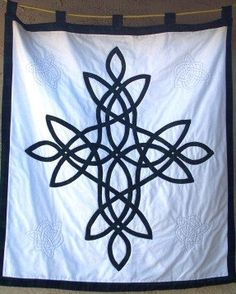 Celtic Wall Quilt ~ Blackwatch Tartan Evening Star by EnchantingTreeStudio,