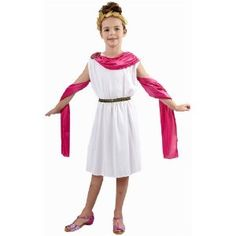 GIRLS ROMAN GODDESS FANCY DRESS COSTUME  sc 1 st  Pinterest & Child Aphrodite Greek Costume | Pinterest | Aphrodite Greek and ...