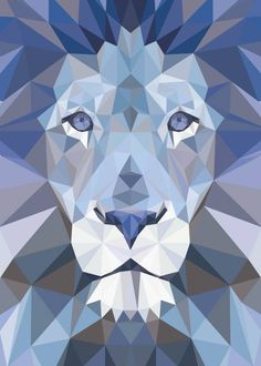 Geometric Origami, Geometric Drawing, Geometric Art, Geometric Lion Wallpaper, Paint Swatch Art, Polygon Art, Lion Art, Abstract Nature, Polychromos