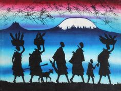 africanartonline.com - Maasai Walking Candle Wax Batik, $65.00 Free Shipping Included Worldwide https://africanartonline.com/Maasai-Walking-Candle-Wax-Batik