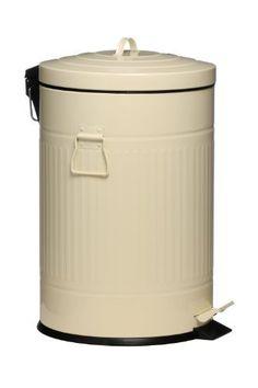 Premier Housewares Pedal Trash Can, 20 Litre, Cream by Premier Housewares, http://www.amazon.co.uk/dp/B006B67M6M/ref=cm_sw_r_pi_dp_t2cxsb0SQ73Z3