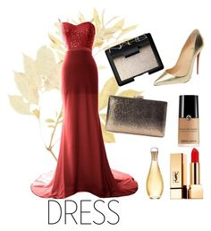 """""""Dress"""" by jac88 ❤ liked on Polyvore featuring Christian Louboutin, Natasha, Yves Saint Laurent, NARS Cosmetics and Christian Dior"""