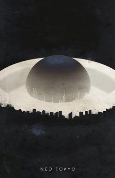 Travel poster for Neo Tokyo by Justin Van Genderen