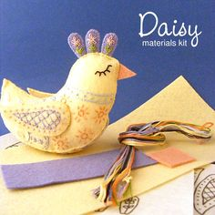 What you get Please note: This pattern is a digital PDF pattern. More info here. This felt bird kit has just about everything you need to make your very own pretty Daisy. It's a great project for some