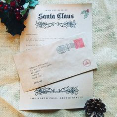 Personalised rustic letter from santa / Father Christmas - keepsake letter by FeatherAndTweed on Etsy https://www.etsy.com/uk/listing/256136665/personalised-rustic-letter-from-santa