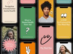 """Just-launched publication The Mind Map wants to promote """"a new normal"""" in mental. - Just-launched publication The Mind Map wants to promote """"a new normal"""" in mental health Interaktives Design, Theme Design, Quiz Design, Design Layouts, Global Design, Graphic Design, Flat Design, Web Mobile, Mobile App Design"""