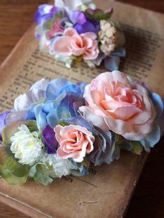 みちくさアートラボ 紫陽花のシルクフラワーヘアアクセ講座