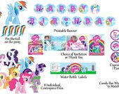 SALE  My Little Pony  Birthday Package Digital Print as many as you need