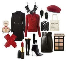 Maria - Going Out by celticcherokee on Polyvore featuring Lanvin, Plein Sud, Yves Saint Laurent, Prada, Scotch & Soda, Ela Stone, sweet deluxe, MANGO, Laulhere and Bobbi Brown Cosmetics