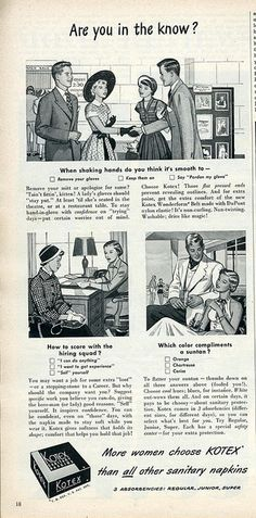 Are you in the know? Kotex 1950 (Nesster, via Flickr)