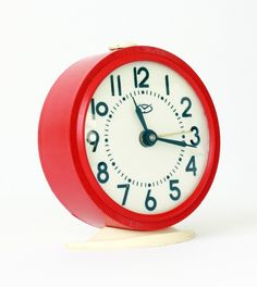 Vintage mechanical alarm clock Vitjaz from Russia Soviet Union