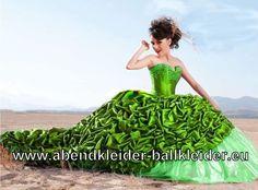 Luxus Bustie Abendkleid Ballkleid in Grün