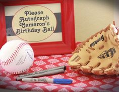"Vintage Baseball / Birthday ""Cameron's Vintage Baseball 1st Birthday Party"" 