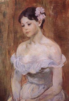 jes68:  Berthe Morisot (1841-1895), Marthe la fleur aux cheveux, 1893
